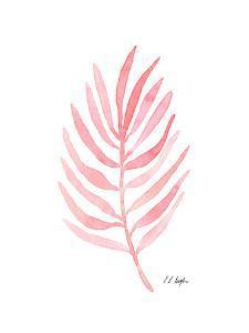 Pink Palm Leaf I by Elise Engh