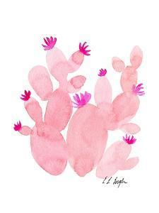 Pink Prickly Pear Cactus by Elise Engh