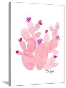 Pink Prickly Pear Cactus by Elise Engh