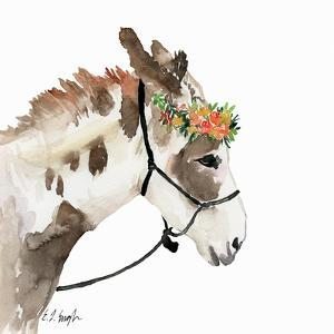 Pony with Floral Crown by Elise Engh