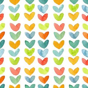 Rainbow Hearts Pattern by Elise Engh