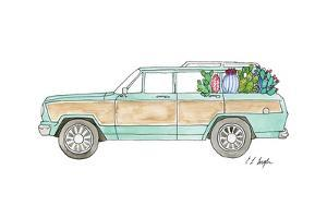Wagoneer with Cactus by Elise Engh