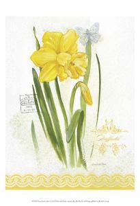 Flower Study on Lace V by Elissa Della-piana