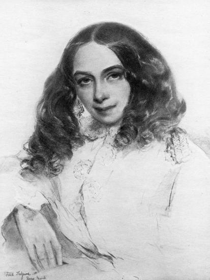 Elizabeth Barrett Browning, British Poet, 1859-Field Talfourd-Giclee Print