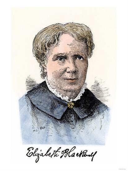 Elizabeth Blackwell, First Women Physician in Modern Times, with Her Autograph--Giclee Print