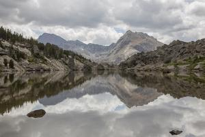 Wyoming, Wind River Range, Small Lake with Mountain Reflection by Elizabeth Boehm