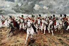 Scotland for Ever, the Charge of the Scots Greys at Waterloo, 18 June 1815-Elizabeth Butler-Giclee Print