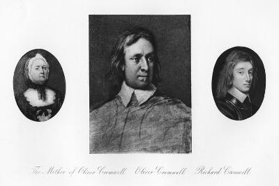 Elizabeth Cromwell, Oliver Cromwell, and Richard Cromwell--Giclee Print