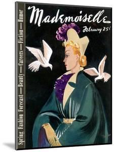 Mademoiselle Cover - February 1937 by Elizabeth Dauber