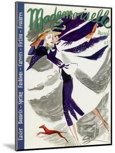 Mademoiselle Cover - March 1937 by Elizabeth Dauber