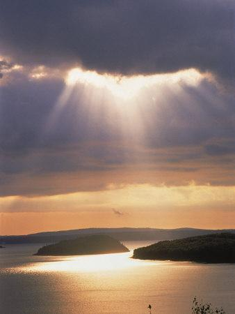 Sunrise Over Bar Harbor, Cadillac Mountain, ME