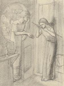 Clerk Saunders by Elizabeth Eleanor Siddal
