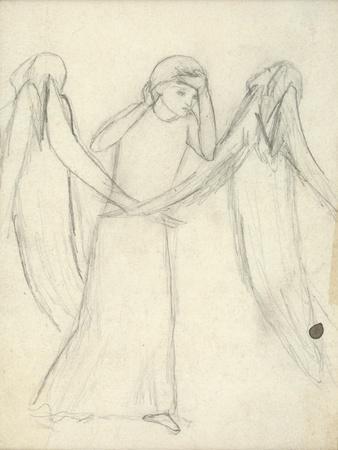 Idea for 'La Belle Dame Sans Merci' (Pencil on Paper) (See also 200312)