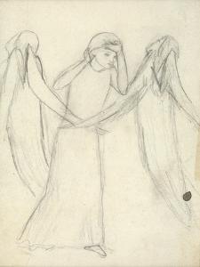 Idea for 'La Belle Dame Sans Merci' (Pencil on Paper) (See also 200312) by Elizabeth Eleanor Siddal