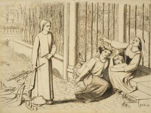 Pippa Passes, 1854 by Elizabeth Eleanor Siddal