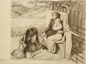 Two Lovers, 1854 by Elizabeth Eleanor Siddal