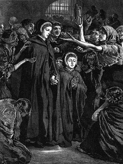 Elizabeth Fry and Anna Buxton Visiting Newgate Prison--Giclee Print