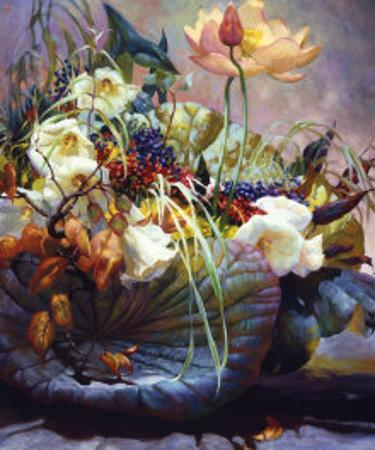 Late Summer Blossoms by Elizabeth Horning