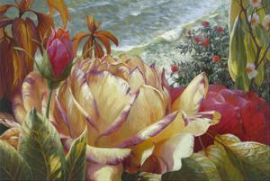 Seaside Roses by Elizabeth Horning