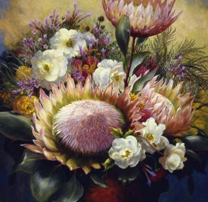 Still Life with Protea by Elizabeth Horning