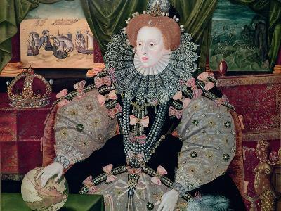 Elizabeth I, Armada Portrait, circa 1588-George Gower-Giclee Print