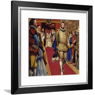 Elizabeth I Sentenced Him to Imprisonment for Secretly Marrying-Alberto Salinas-Framed Giclee Print