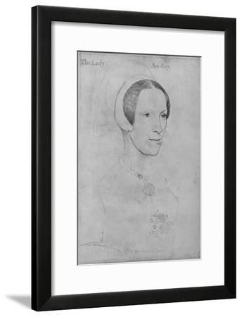 'Elizabeth, Lady Audley', c1538 (1945)-Hans Holbein the Younger-Framed Giclee Print