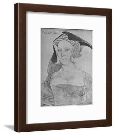 'Elizabeth, Lady Vaux', c1536 (1945)-Hans Holbein the Younger-Framed Giclee Print