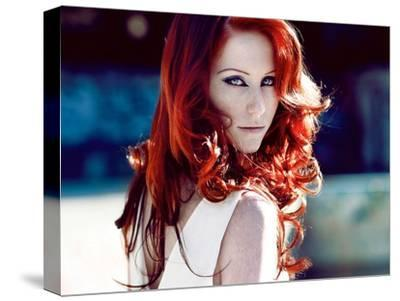 Girl with Shining Red Hair