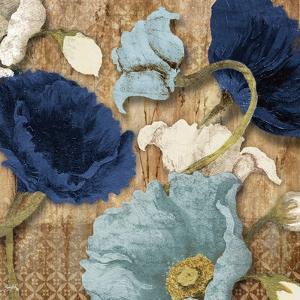 Blue Joyful Poppies I by Elizabeth Medley