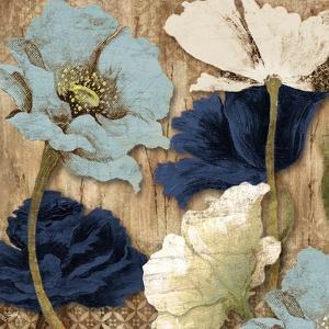 Blue Joyful Poppies II by Elizabeth Medley