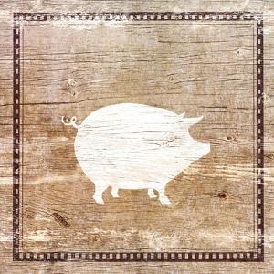Farm Pig Silhouette by Elizabeth Medley