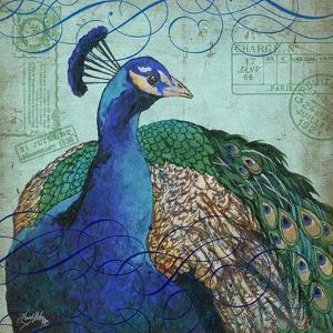 Parisian Peacock I by Elizabeth Medley