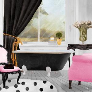 Pop of Pink Bath II by Elizabeth Medley