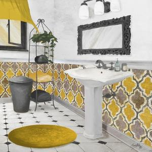 Sundance Bath II (Yellow) by Elizabeth Medley