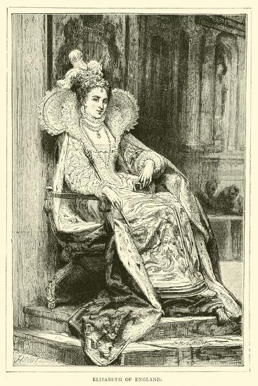 Elizabeth of England--Giclee Print