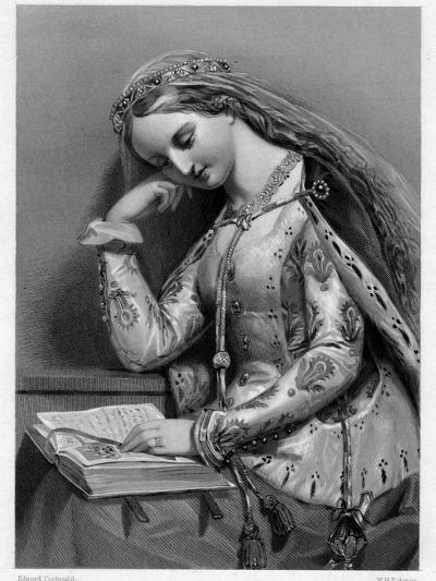 Elizabeth of York, Queen Consort of King Henry VII of England-WH Egleton-Giclee Print