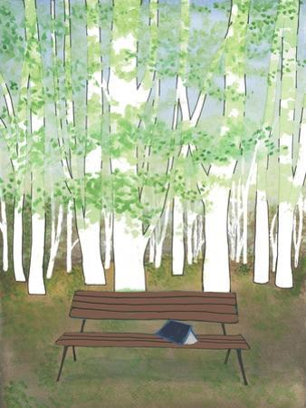 Bench in the Forest by Elizabeth Rider