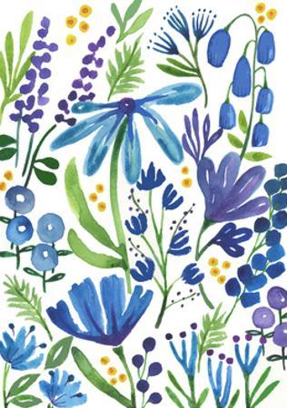 Blue Flowers by Elizabeth Rider