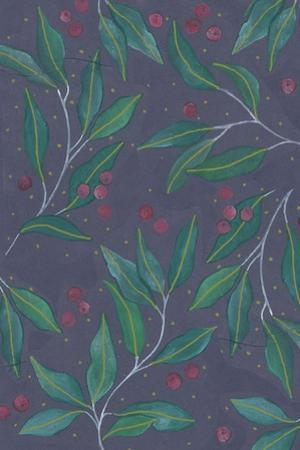Green Leaves with Berries by Elizabeth Rider