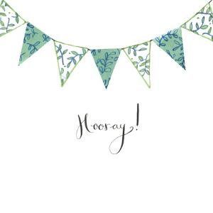 Hooray Bunting by Elizabeth Rider