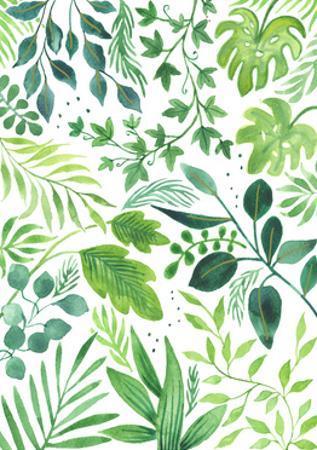 Leafy Medley by Elizabeth Rider