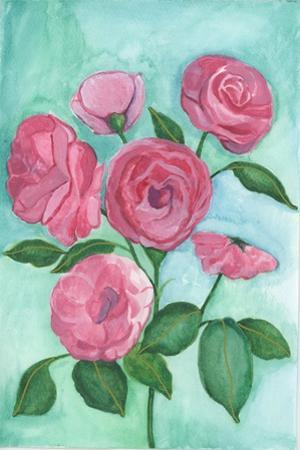 Pink Roses by Elizabeth Rider