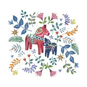 Swedish Dala Horse by Elizabeth Rider