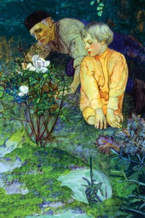 Rising Vigorously Out of the Earth Was a Little Rose Bush by Elizabeth Shippen Green