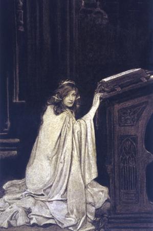 The Folds of Her Cloak Making Her Seem Like a Kneeling Marble by Elizabeth Shippen Green