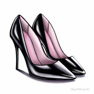 Black High Heels by Elizabeth Tyndall