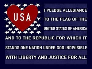Blue USA Flag by Elizabeth Tyndall