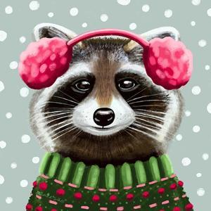Cute Raccoon by Elizabeth Tyndall