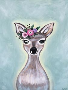 Floral Deer by Elizabeth Tyndall